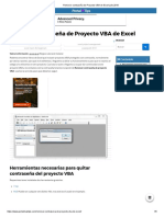 Remover Contraseña de Proyecto VBA de Excel