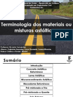 Tema 1 - Terminologia Dos Materiais Ou Misturas Asfálticos