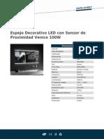 Espejo Decorativo LED Con Sensor de Proximidad Venice 100W