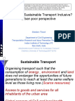 What makes sustainable transport inclusive? Prescriptions from the poor's perspective - presentation