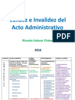 Validez e Invalidez Del Acto Administrativo