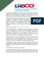 REALIDAD ECONOMIA Y LABORAL EN COLOMBIA