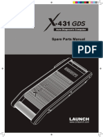 X-431 GDS English Spare Parts Manual