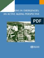 emergency prep of aging group