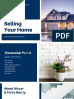 Blue Home Search Pitch Deck Presentation