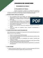 1.- Los Procedimientos de Trabajo