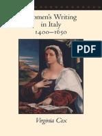 Women Writing in Italy 1400 1650