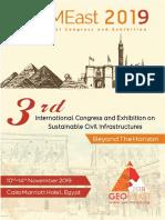 Program Book of GeoMEast 2019