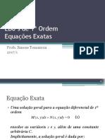 Edos Equaçoes exatas