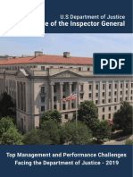 IG report on Top Management and Performance Challenges for DOJ