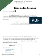 Características de Los Estados Financieros -【 Tipos de Estados Financieros 】