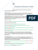 Sentence Structure Guide