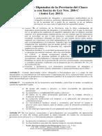 Ley 288 C  de Honorarios Profesionales de la Provincia del Chaco
