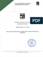 Reglamento de Régimen Académico EPN