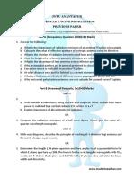 JNTUA B.tech 3 1 AWP Previous Paper Held on June 2016