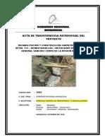 Acta de Transferencia Definitiva Carretera Quinistaquilla