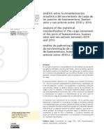 Análisis estandarización movimiento de carga en puertos 2010 2016