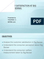 Consumer Satisfaction at Big Bazaar