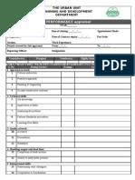 Performance Appraisal (Urban Unit)