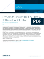 Process to Convert DICOM Data to 3D Printable STL Files