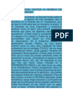 ¿Periodizacion Tactica o Modelo de Entrenamientos