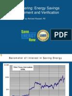 Sub Metering Energy Savings Measurement and Verification