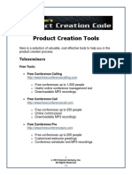 Product Creation Tools Guide