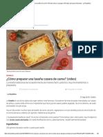 ¿Cómo Preparar Una Lasaña de Carne_ _ Receta Casera _ Lasagna _ Recetas Peruanas _ Buenazo - La República