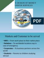 Service Design of Money Transfer Services
