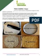 4 Masas de Pizza y Pizza de Berenjena Asada