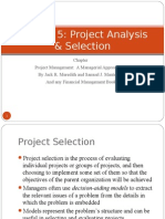 Lecture 5 Project Analysis and Selection