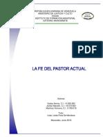 La Fe Del Pastor