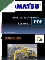 Tipos de Excavadoras Komatsu 2019