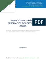 02 TREB - Diseño e Instalación de Reactor Crudo