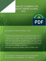 Programa de Gobierno Del Movimiento Tercer Sistema