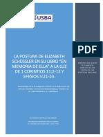 La Postura de Elizabeth Schüssler en Su Libro en Memoria de Ella a La Luz de 1 Corintios 11-2-12 y Efesios 5-21-23