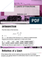 Limit of Functions