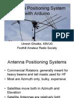 Satellite Antenna System With Arduino by Umesh Ghodke K6VUG (FARS)