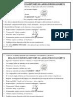 Reglas de Comportamiento en El Laboratorio de Cómputo