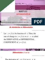 Mat121 L1 Differentiation