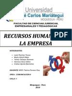 recursos humanos en la empresa