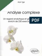 (Références sciences.) Yger, Alain-Analyse complexe _ un regard analytique et géométrique enrichi de 230 exercices corrigés-Ellipses (2014).pdf