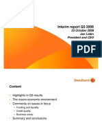 CEO presentation of Q3 2008 results