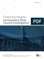 Yarriambiack Shire Council Investigation Report