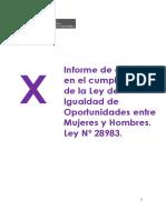 X_INFORME_LIO__Informe de Avances en El Cumplimiento de La Ley de Igualdad de Oportunidades Entre Mujeres y Hombres