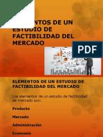 Elementos de Un Estudio de Factibilidad Del Mercado