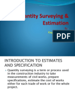 1 Introduction to Estimates and Specification-1