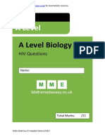 HIV as Biology Questions AQA