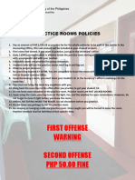 Practice Rooms Policy