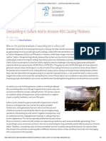 Overpickling in Sulfuric Acid to… _ American Galvanizers Association